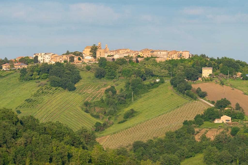 View of Colmurano from Casa Pace e Gioia