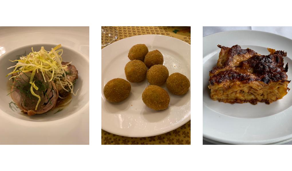Coniglio in Porchetta, Olive Ascolane, Vincisgrassi