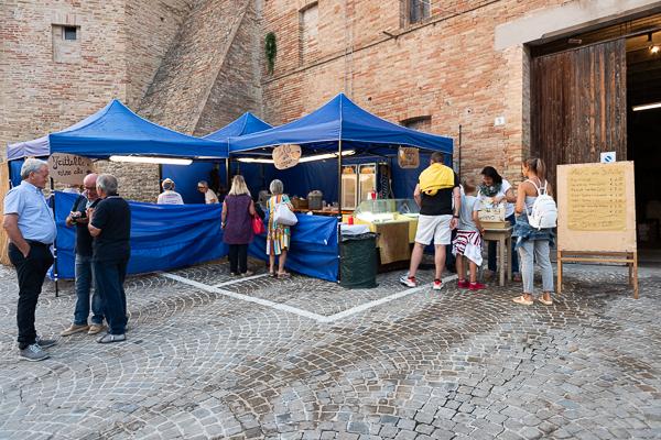 Food stand at Festa del Vino Cotto in Loro Piceno